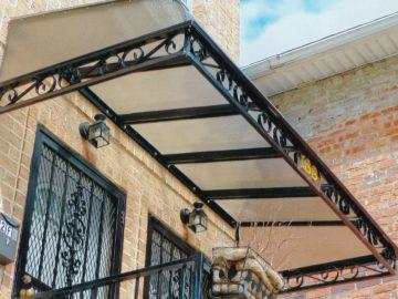 lexan awning with black trim